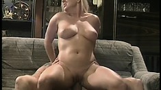 Feisty office whore Calli Cox wants to ride every guy she works with