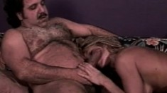 A blast from the past, blond has a MFM threesome with Ron Jeremy